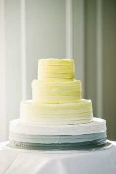 MARRIED // PREETI + MIKE | Cassandra Photo - yellow and gray ombré cake