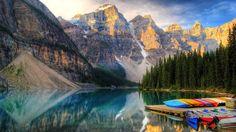 Moraine Lake in Banff, Canada