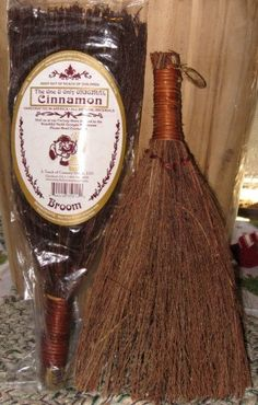 Natural CINNAMON BROOMS  Smells Wonderful  by HalfPennyBoutique