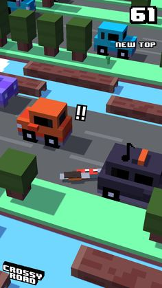 61 New Top Score On Crossyroad