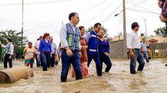 Lleva Gobierno de Tamaulipas atención a familias damnificadas por lluvias en Nuevo Laredo