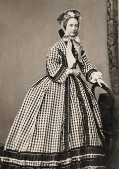 +~+~ Antique Photograph ~+~+ Amazing dress on woman during the Civil War time…
