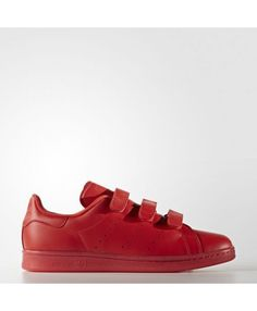 Mens Adidas Stan Smith Red Red Red S80043
