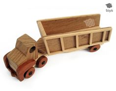 Wood Dump truck  handmade natural toy