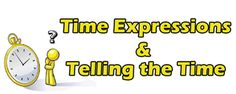 Time Expressions and Telling the Time ESL EFL Teaching Resources - In this section, you will find teaching resources to help students practice telling the time as well as practice time phrases and prepositions. Students can also learn how to describe a particular time's importance, give information about timetables, use ordinal numbers, ask questions that contain various time expressions, ask and answer questions about birthdays, and talk about personal and public celebrations.