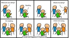 Cyanide and Happiness-i hate when people ask about the obiouse Old Comics, Funny Comics, Rage Comics, Short Comics, Cyanide Happiness, Funny Comic Strips, Just For Laughs, Laugh Out Loud, The Funny