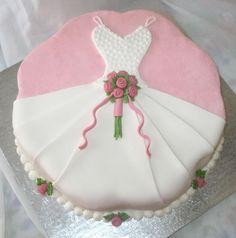 Bridal Shower Wedding Gown cake