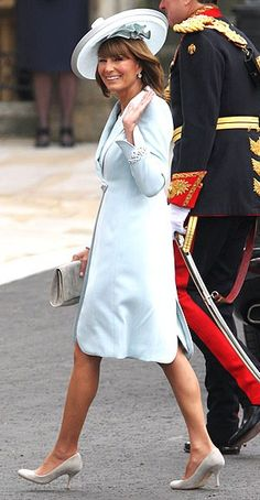 Carole Middleton at the royal wedding