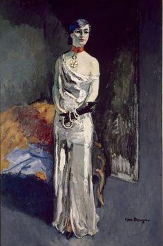 Kees Van Dongen, Portrait of Anna de Noailles, Stedelijk Museum, Amsterdam Modern Artists, Contemporary Artists, Vincent Van Gogh, Anna, Art Fauvisme, Raoul Dufy, Great Works Of Art, Van Gogh Museum, Harlem Renaissance