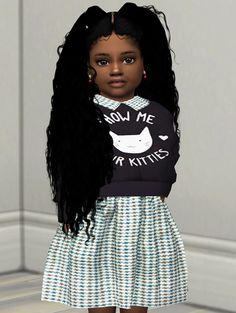 Gloria Hair by Redhead Sims Sims 3, Sims 4 Teen, Sims Four, Sims 4 Mods, Little Girl Outfits, Toddler Girl Outfits, Toddler Fashion, Toddler Girls, Maxis