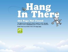 404 error page, sky, hung in there