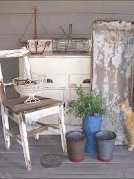 Porch Ideas Shabby Chic Rustic Garden Decor Gardens Container Plants