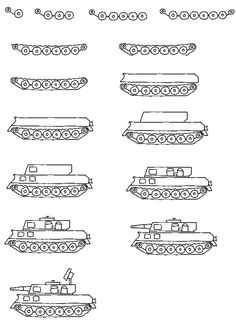 art for kids how to draw a tank