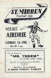 1950s St. Mirren home programme