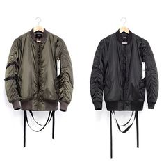 . Nylon Bomber Jacket, Raincoat, Black And White, Sleeves, Jackets, Collection, Fashion, Rain Jacket, Black White