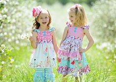SALE...Buy 2 get 1 free.....Huckleberry Girl's Flutter Apron Dress or Top Instant Download PDF Sewing Pattern Tutorial, Sizes 3-6M to 10
