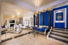 Pandis Palace Luxury seafront holiday Villa in Crete Crete Chania, Palace, Traditional, Luxury, Holiday, Furniture, Gallery, Home Decor