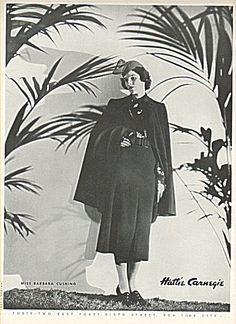 Babe Cushing Paley in a Hattie Carnegie ad