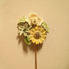 True Vintage Yellow Bouquet Stick Pin Don't you just love real vintage quality and character?! You don't get that at Forever 21. Not that I don't adore them... Jewelry Brooches