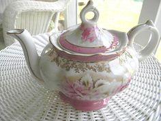 Vintage Victorian Porcelain Musical Teapot by EnglandinaCup,