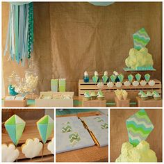 How cute would this Kite themed party be for a spring birthday?would be fun to let kids make a kite and fly it out in the parking lot 1st Boy Birthday, First Birthday Parties, Birthday Ideas, Kite Party, Cloud Party, Princess Cake Pops, Kids Party Themes, Party Ideas, Happy 1st Birthdays