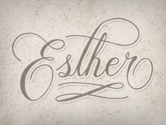 Dribbble - Esther by Chris Petersen