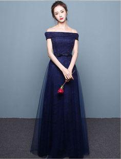 Vintage Inspired Off Shoulder Elegant Lace Prom Formal Dress