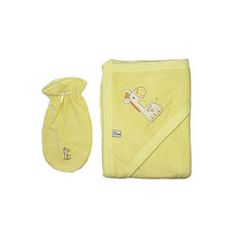Yellow Towel and Washcloth with Giraph Yellow Towels, Beautiful Babies, Clothing, Cotton, Baby, Small Bouquet, Outfits, Infants, Baby Humor