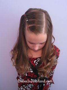 Puffy Braids on the Side - Bang Pull Back (8)  This would look cute in Carly's hair!!@Tricia Haun