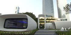 An entire 250-square-metre space (2,700 square foot) building, 3D-printed in Dubai. Is the world's first 3D-printed office building.The new building that took a total of 17 days to be printed, at a cost of about $140,000 and