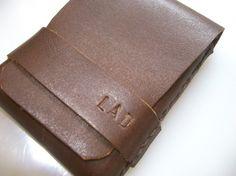 Leather WalletMen WalletLeather Card HolderDark by leathermix, $25.00