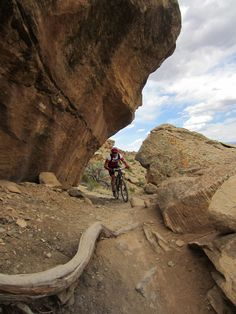 Mountain Bike riding in Fruita, CO