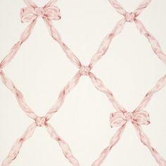 Matilda Ribbon Trellis – Blush - Children's - Wallcovering - Products - Ralph Lauren Home - RalphLaurenHome.com