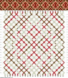 Patrones de pulseras- Flores 24 hilos, 3 colores