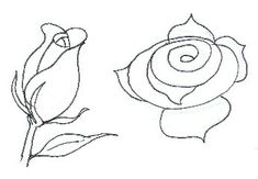 how to draw a long stem rose