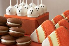 Chocolate whoopie pies, candy corn cookies, and adorable ghostie cake pops, oh my (yummy)!