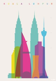 Colorful and Vibrant Shapes of Cities Posters   favbulous