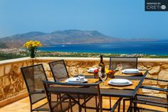 Holiday villa rental in Chania. Two storey stone built house with private pool. 3 bedrooms, 2 bathrooms, up to 6 persons, pool, near to s. Outdoor Tables, Outdoor Decor, Luxury Holidays, Private Pool, Luxury Villa, Small Towns, Building A House, Outdoor Furniture Sets, Explore