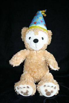 Disney Parks 12 Birthday Duffy The Disney Bear Hidden Mickey Plush Stuffed Hat   eBay