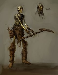 View an image titled 'Skeletal Worker Art' in our Rift art gallery featuring official character designs, concept art, and promo pictures. Fantasy Wizard, Fantasy Monster, Monster Art, Medieval Fantasy, Dark Fantasy, Fantasy Art, Zombie Army, Skeleton Warrior, Creature Picture