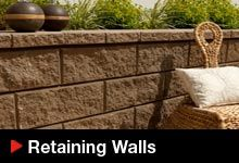 A wide range of retaining wall products including new innovations
