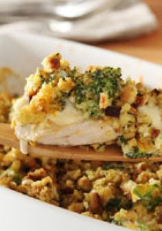 New Classic Chicken Bake — Boneless chicken breasts are baked to tender, juicy perfection in this delicious new take on the classic chicken bake recipe.