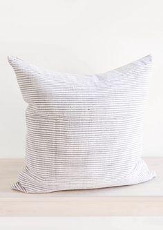 Monochrome Stripe Hemp Pillow