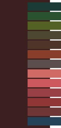 Herbst - Kombifarben für Dunkelbraun (Farbpassnummer 6)
