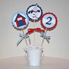 Puppy birthday party  Dog themed centerpiece by JillyBearDesigns, $12.00