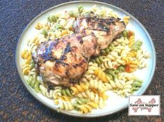 Honey Lime Glazed Chicken Thighs with Pasta Salad