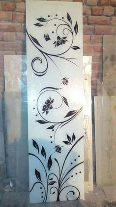 Best Ideas For Bedroom Door Design Ideas Frosted Glass Wooden Glass Door, Etched Glass Door, Glass Barn Doors, Window Glass, Glass Etching Designs, Glass Painting Designs, Frosted Glass Design, Frosted Glass Door, Glass Partition Designs