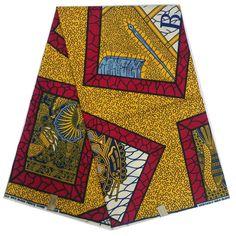 LBL24-31 Holland/Dutch Wax Print Fabric,African Real Wax Tribal Fabric 6yards…