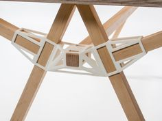 3d-gedruckt Stecker verbindersystem innovativ-Keystones Holztisch
