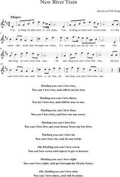 New River Train. Canción del Folk Americano